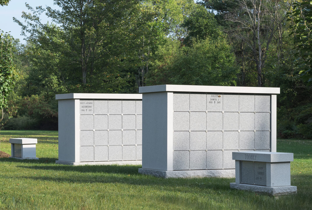 Columbarium featuring Blue Gray Granite