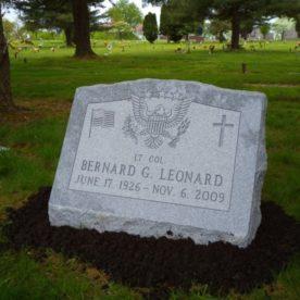 Slant memorial.