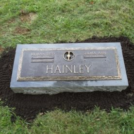 Newly placed monument.