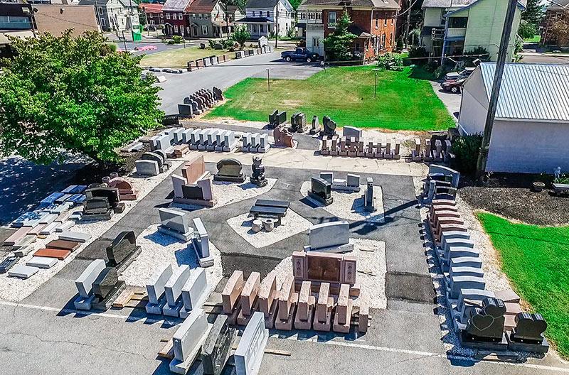 new holland outdoor memorial display aerial