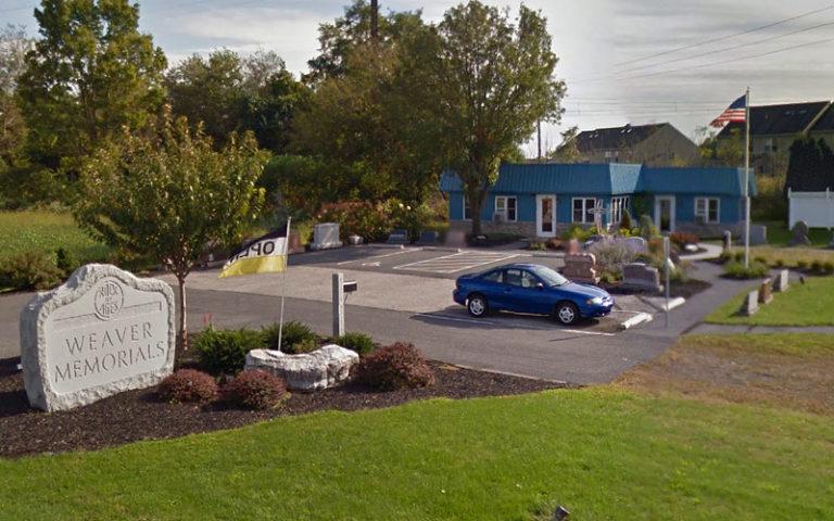 weaver memorials mount joy location
