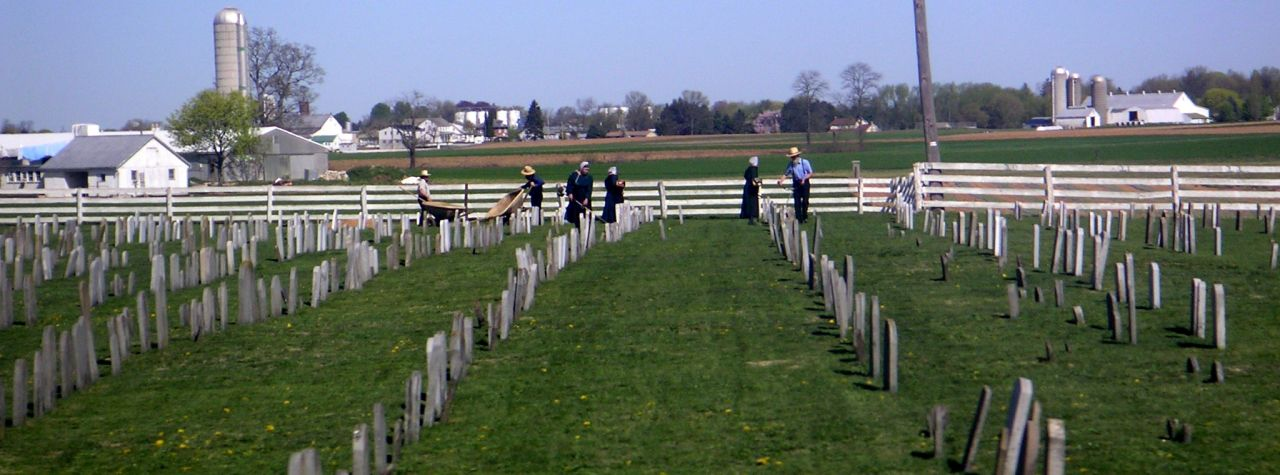 amish burial practices in lancaster county, PA
