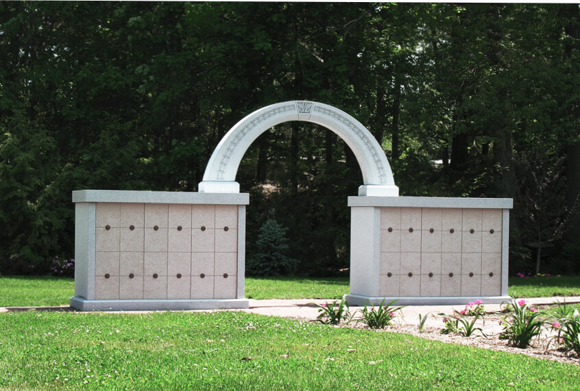 Custom Granite Columbaria