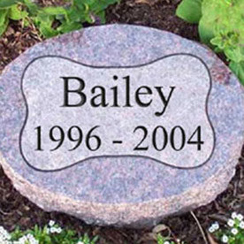 Small tomb stone for a dog.