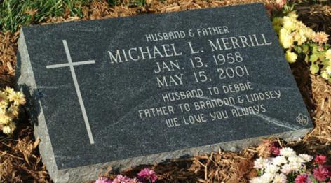 Custom angled headstone.