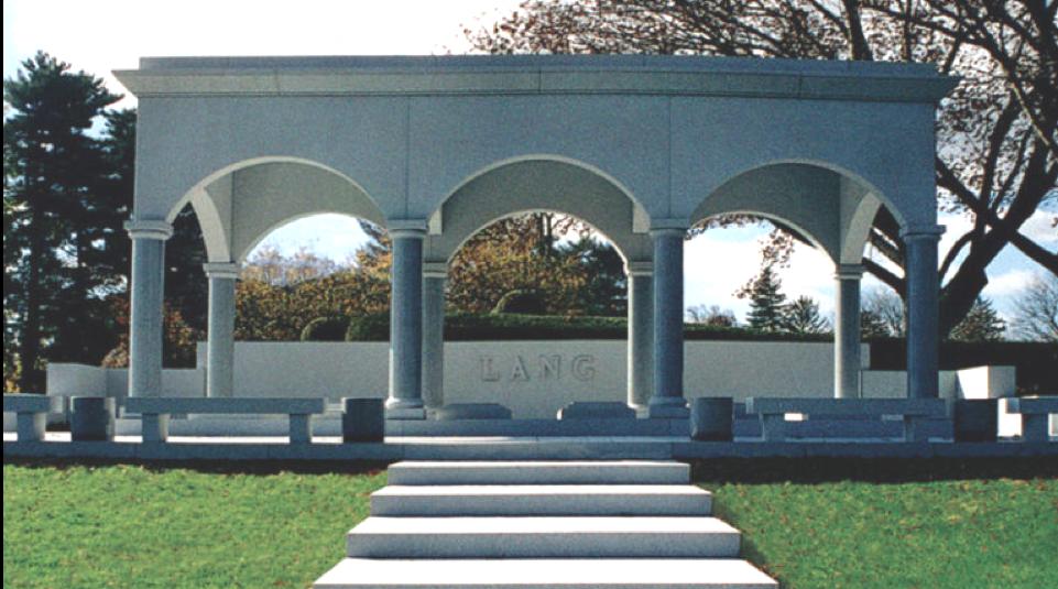 Large, ornate, estate monument.