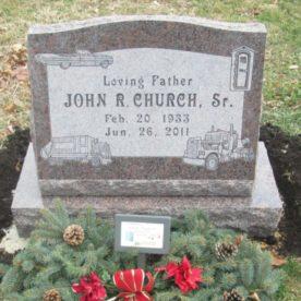 Custom inscribed memorial.